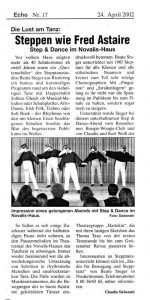 Pressebericht Steptanz Rosenheim